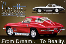 "Corvette ""From Dream To Reality"" Tin Sign"