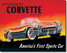 "Corvette ""America's First Sports Car"" Tin Sign"