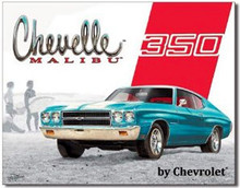 Chevelle Malibu 350 Tin Sign