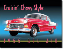 "Chevrolet Bel Air 1955 ""Crusin"" Tin Sign"