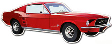 Ford Mustang Fastback Die Cut Tin Sign