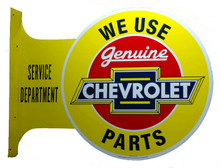 Chevrolet Genuine Parts Wall Flange Tin Sign