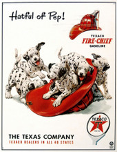 "Texaco ""Hatful Of Pep""  Tin Sign"
