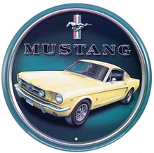 Ford Mustang Fastback Round Tin Sign