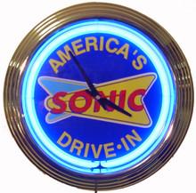 Sonic Drive In Neon Clock