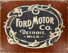 "Ford Motor Company Classic ""Distressed Look"" Tin Sign"