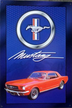Ford Mustang Signature Tin Sign