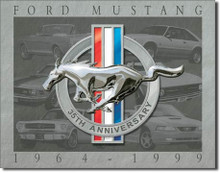 "Ford Mustang ""35 Anniversary"" Tin Sign"