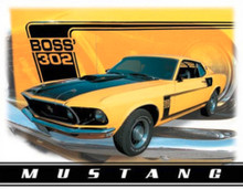 Ford Mustang Boss 302 Tin Sign