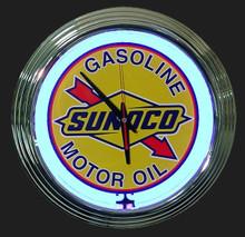 Sunoco Gasoline Neon Clock