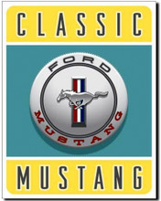 Ford Mustang Classic Tank Cap Logo Tin Sign