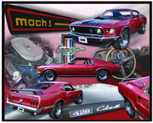Ford Mustang Mach 1 Cobra Jet Tin Sign