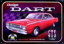 """Dodge Dart GTS """"Scat Pack"""" Tin Sign"""