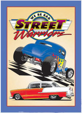 Street Warriors Hot Rods Tin Sign