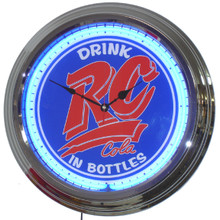 Royal Crown Cola Classic Neon Clock