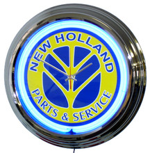 New Holland Tractor Neon Clock