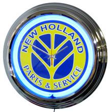 New Holland Tractor Neon Clock