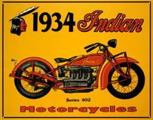 Indian Motorcycle 1934 Tin Sign