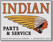 Indian Motorcycle Parts & Service Tin Sign