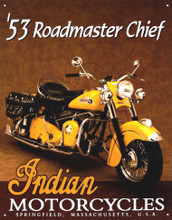 Indian Motorcycle 1953 Roadmaster Tin Sign