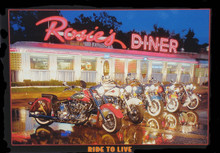 Rosies Diner Motorcycles Tin Sign