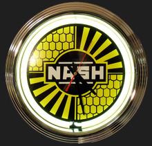 Nash Automobile Neon Clock