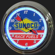 Sunoco Racing Fuels Neon Clock