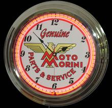 Moto Morini Motorcycle Neon Clock