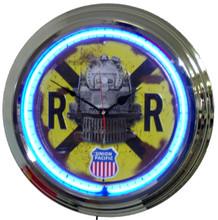 Union Pacific Railroad Neon Clock