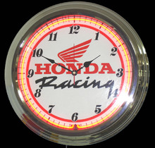Honda Motorcycle Racing Neon Clock