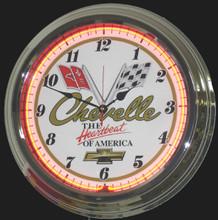 Chevelle Classic Neon Clock