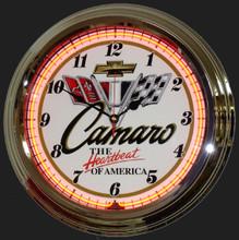 Camaro Classic Neon Clock