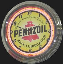 Pennzoil Oil Neon Clock