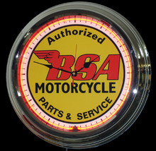 BSA Motorcycle Classic Neon Clock