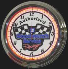 Goodwrench Service Racing Neon Clock