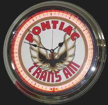 Pontiac Trans Am Classic Logo Neon Clock