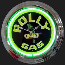 Polly Gasoline Neon Clock