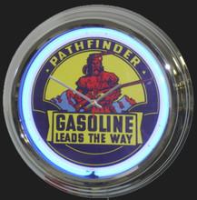 Pathfinder Gasoline Neon Clock