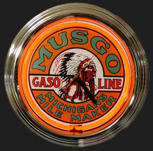 Musco Gasoline Neon Clock