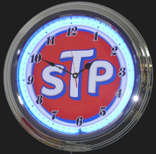 STP Oil Treatment Neon Clock