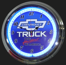 Chevrolet Trucks Heartbeat Neon Clock