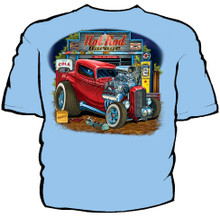 Hot Rod Garage Navy Work Shirt