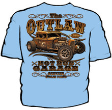 Outlaw Hot Rod Garage Navy Work Shirt
