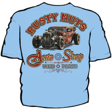 Rusty Nuts Auto Shop Navy Work Shirt