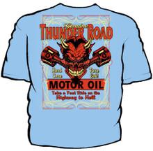 Thunder Road Motor Oil Navy Work Shirt