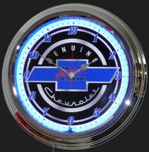 Genuine Chevrolet Heartbeat Neon Clock