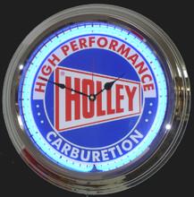 Holly Carburetion Neon Clock