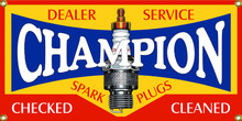Champion Spark Plugs Dealer Wall Banner