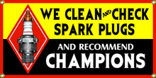 Champion Spark Plugs Cleaned Wall Banner