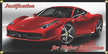Justification For Higher Education Ferarri Wall Banner